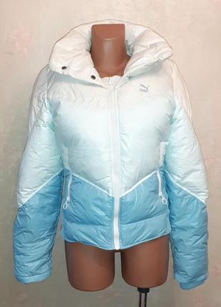 🎁1+1=3 фирменная женская куртка дутик пуховик пух/перо puma, 44 - 46