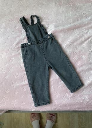 Детский джинсовый комбинезон zara