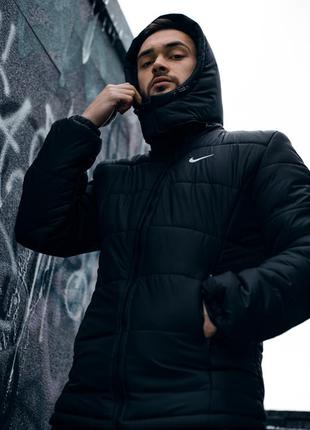 Куртка на европейскую зиму до - 15 мужская черная nike