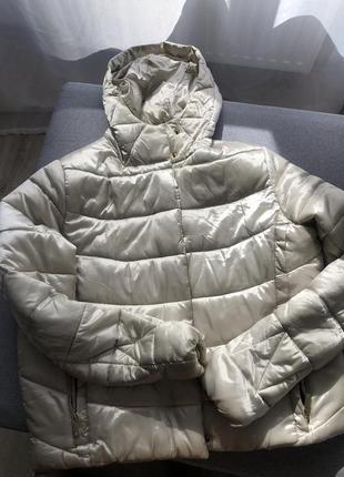 Куртка бежевая перламутр демисезонная