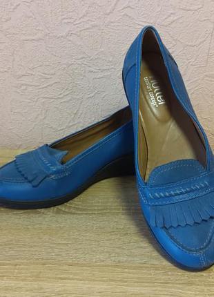Красивые туфли hotter натуральная кожа + нубук акция 1+1=3