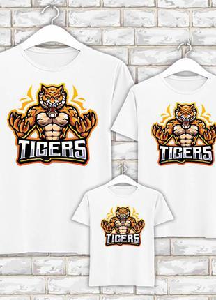 Футболки новогодние фэмили лук family look для всей семьи тигр. tigers push it фп007848
