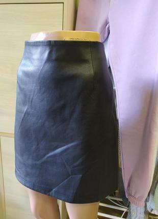 🖤💼💼🖤стильна шикарна юпочка міді з еко шкіри на молнії bik bok