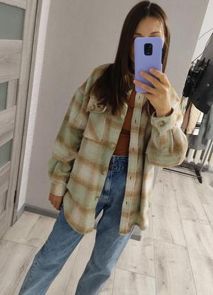 Куртка-рубашка клетка👌