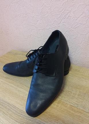 Красивые туфли bugatti  натуральная кожа акция 1+1=3