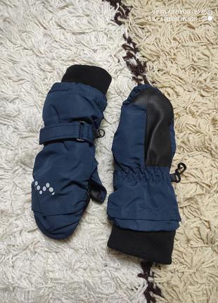 Теплые зимние термо рукавицы варежки краги vrs на 3-5 лет