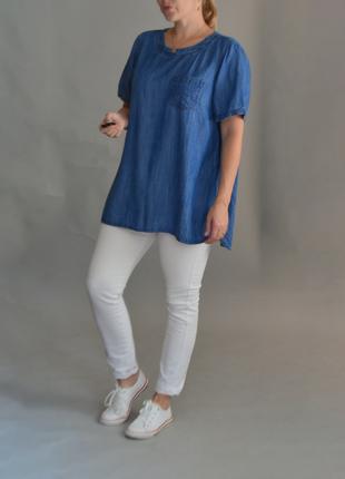 5285\71 блуза из тонкого денима papaya xxxxl