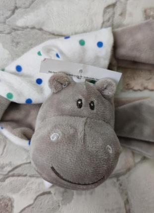 Игрушка- комфортер обнимашка сплюшка для спокойного сна малыша с рождения ergee германия