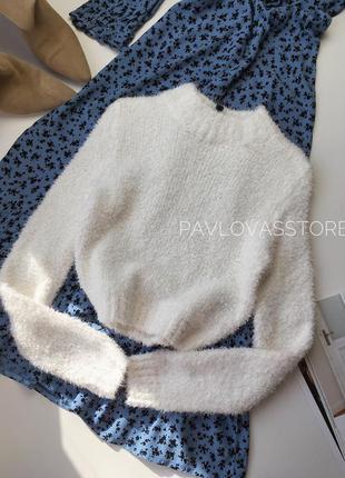 Мягкий плюшевый свитер облачко