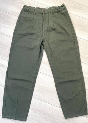 Крутые женские джинсы слоучи хаки. новые!
