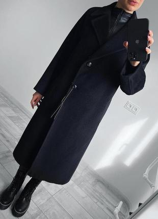 Пальто с ангоры и шерсти от jaeger
