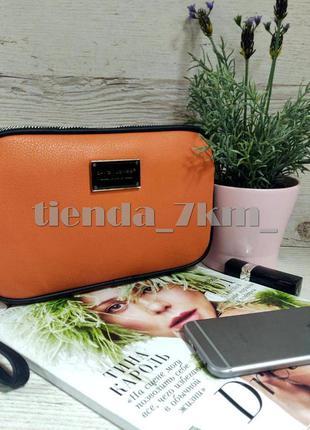 Клатч david jones cm5666t coral - оранжевый / сумка через плечо на два отделения