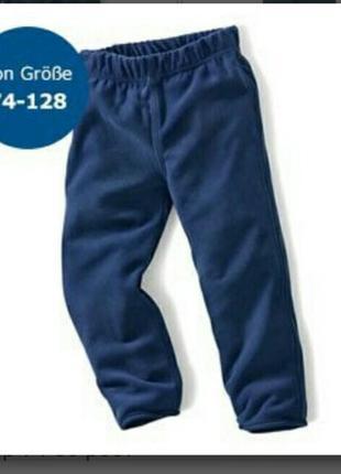 Флісові штани 12 міс нові