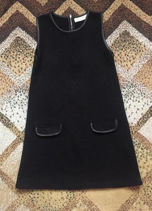 Трикотажное платье-сарафан zara