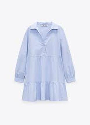 Голубое платье zara