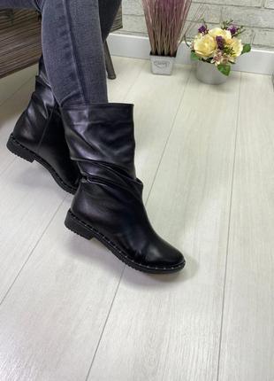 36-41 рр деми/зима высокие ботинки, полусапожки натуральная кожа