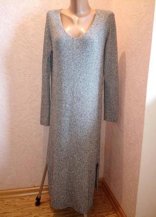 Платье с 2-мя разрезами massimo dutti/плотная вязка