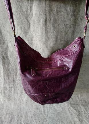 Вместительная сумка- трансформер - баул oxbow, красивый гранатовый цвет