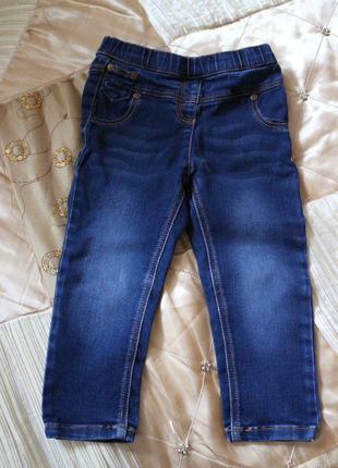Джеггинсы джинсы лосины next на 1,5-2 года рост 86-92см