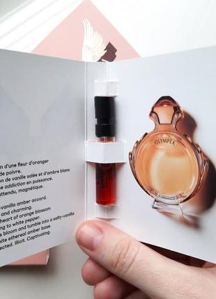 Paco rabanne olympea intense парфюмированная вода (пробник) оригинал
