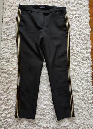 Базовые классические брюки с лампасами 14 р от marks&spenser