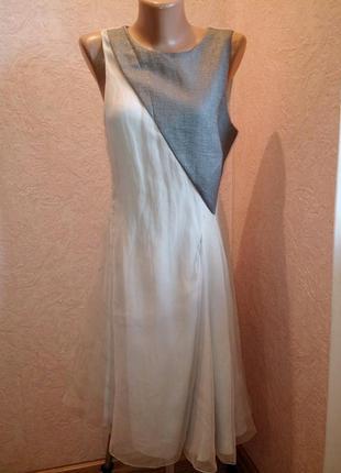 Необычное платье armani 100%шелк
