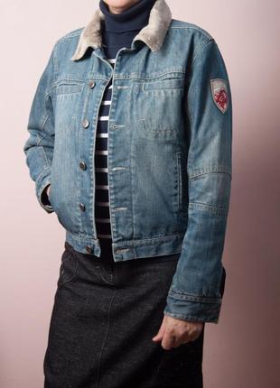 Утеплённая джинсовая куртка protest, р.s.
