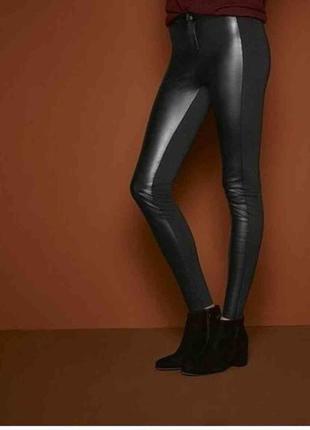 Кожаные штаны, брюки из эко кожи м 38, 3xl 46 euro, esmara, германия