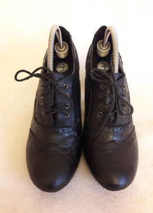Туфли оксфорды фирмы mа p. 38 cтелька 24,5 см