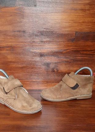 Ботинки полуботинки mini boden натуральный замш  стелька 20 см
