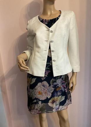 Короткий белый жакет/m/brend jaspal tailors