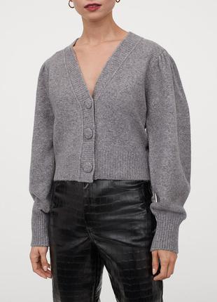 Новый кардиган, кофта, свитер h&m, в составе шерсть. размер s