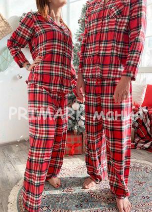 Женская красная фланелевая пижама primark