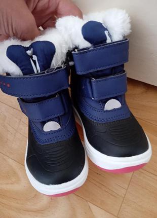 Зимние ботинки на липучке лупилу