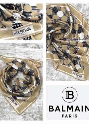 Шелковый платок balmain 100% шелк оригинал