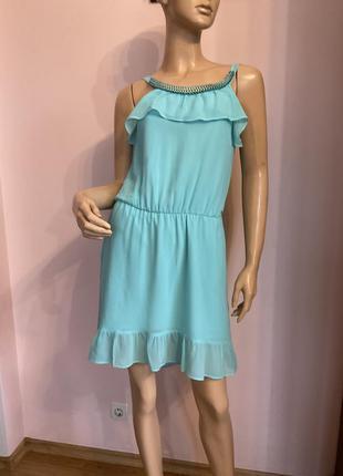 Шикарное фирменное короткое платье/ s/brend guees