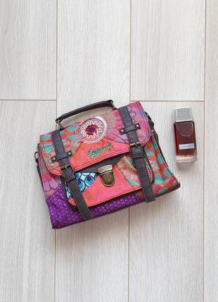 Сумка текстильная, сумочка, саквояж desigual