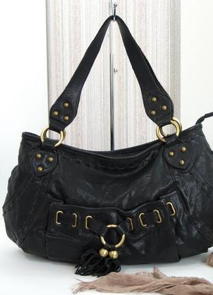 Кожаная сумка, lancaster, франция, натуральная кожа.