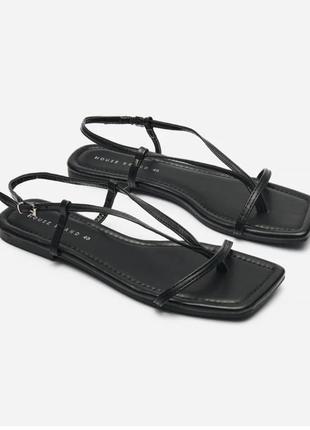 Сандали сандалі босоножки тапочки тапки чёрные