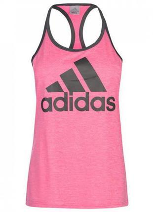 Майка adidas hi5 logo tank real pink