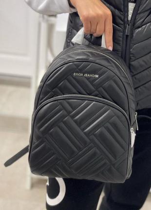 Рюкзак michael kors abbey medium quilted leather backpack кожа оригинал