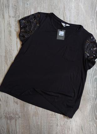 Нарядная футболка с пайетками debenhams размер 16-18