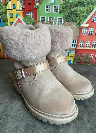 Демисезонные сапоги ботинки пудра 26