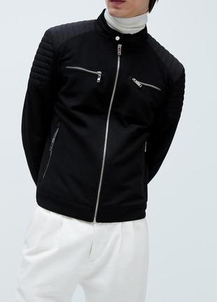 Куртка в байкерском стиле zara