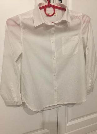 Рубашка zara 7-8 лет рост 128
