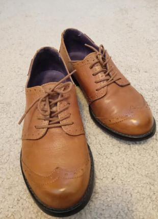 Туфли оксфорды 100% кожа испания