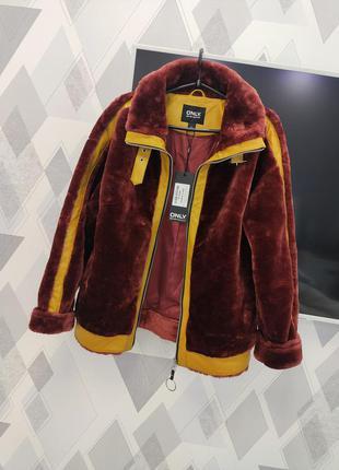 Шуба авиатор дублёнка пальто куртка меховая тедди шубка демисезонная осенняя зимняя