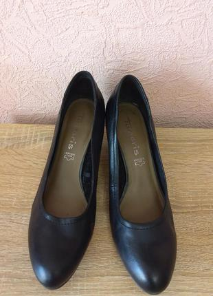 Красивые туфли  tamaris натуральная кожа акция 1+1=3
