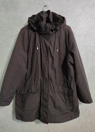 Куртка парка демисезонная большой размер