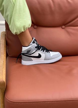 Тёплые кроссовки джордан с мехом внутри модель унисекс